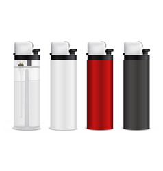 realistic lighters set vector image
