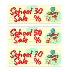 Sale school banner icon and logo isolated design vector
