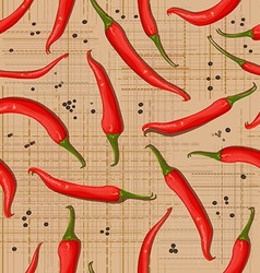 seamless texture of hot pepper vector image