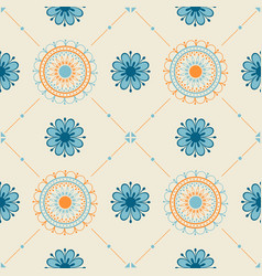 Seamless texture with a floral ornament vector