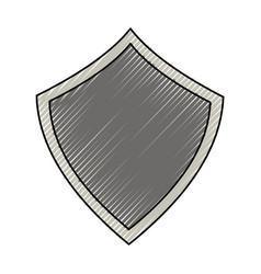 security web padlock shield vector image