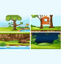 Set different outdoors scenes vector