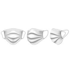 set medical protective virus mask vector image