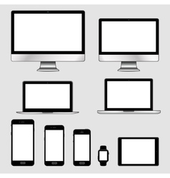 set of modern electronic vector image