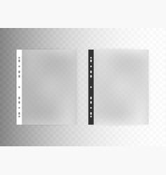 Sheet plastic protector clear folder file vector