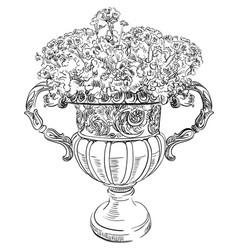 Stone vase vector