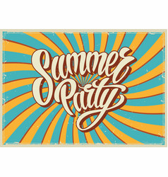 Summer party vintage template vector