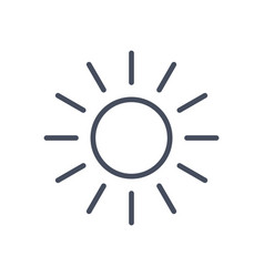 sun icon sunny weather concept forecast climate vector image
