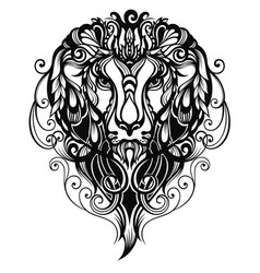 Tattoo lion vector