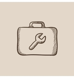 Toolbox sketch icon vector