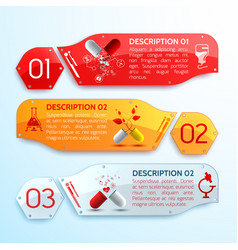 treatment info horizontal banners set vector image