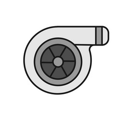 Turbocharger color icon vector