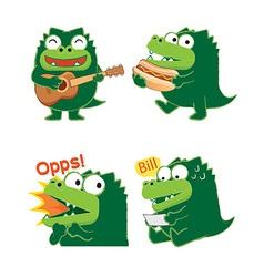 crocodileActing01 vector image