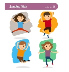 Jumping Kids Characters vector image vector image