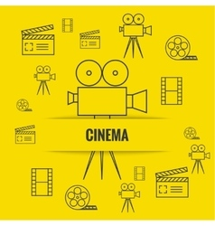 Abstract background with cinema vector