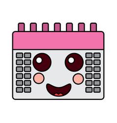 calendar kawaii icon image vector image