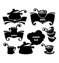 cook equipment silhouettes vector image vector image