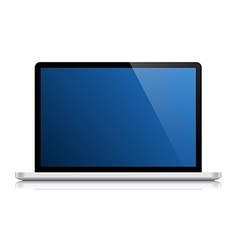 glossy laptop isolated on white vector image