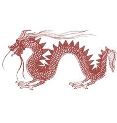 hand drawn of dragon vector image