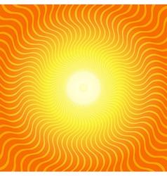 Sunburst Hot Heat Ray Background vector image vector image