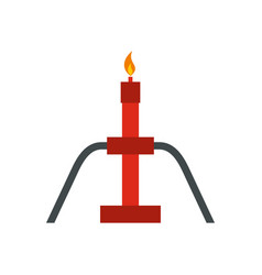 Burning oil gas flare icon flat style vector