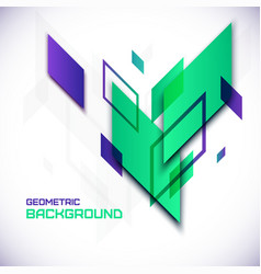 Geometric 3D abstract background vector image vector image
