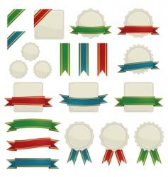 ribbons and seals vector image vector image