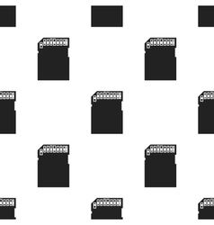 SD card icon in black style isolated on white vector image vector image
