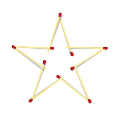 Star Symbol Made from Matches vector image vector image
