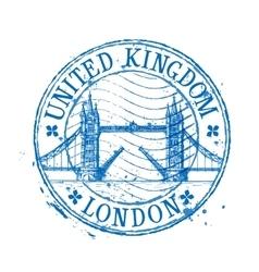 United Kingdom logo design template stamp vector image vector image