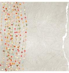 Vintage card polka dot design EPS 8 vector image vector image
