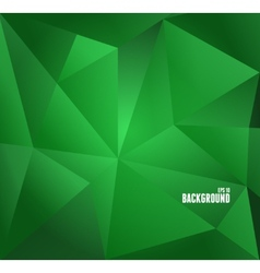 Abstract dark green triangle background vector image
