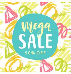 mega sale banner template vector image vector image