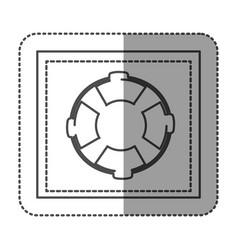 monochrome sticker frame with flotation hoop vector image vector image