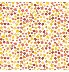 Red yellow and orange stars on white seamless vector image