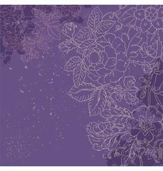 Vintage grunge flower backgriund vector image