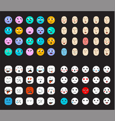 78 smileys set vector