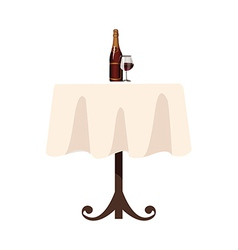 A bottle on the table vector