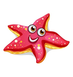 A smiling starfish vector