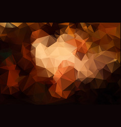 Abstract brown background polygon vector