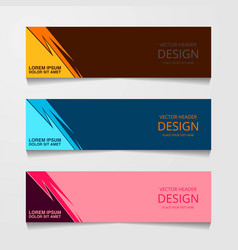 Abstract design banner web template with three vector