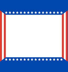 American flag patriotic frame border vector