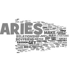 aries as a boyfriend your sign may play a factor vector image