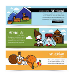 Armenian culture and food web pages nature vector