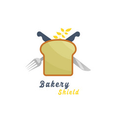 Bakery shield logo vector