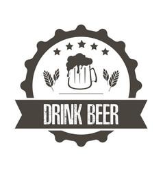 beer logo template design vector image