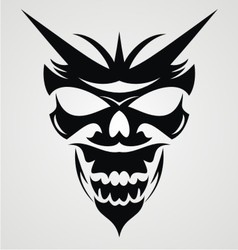 Black Devil Mask vector image