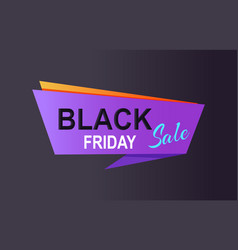 Black friday sale promo poster with advert info vector