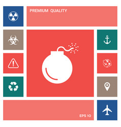 bomb symbol icon elements for your design vector image