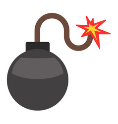 bomb with burning wick vector image